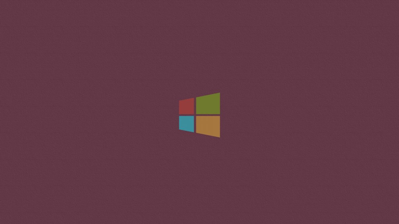 Minimalistic windows 8 logos simple background pink wallpaper 57531 1366x768