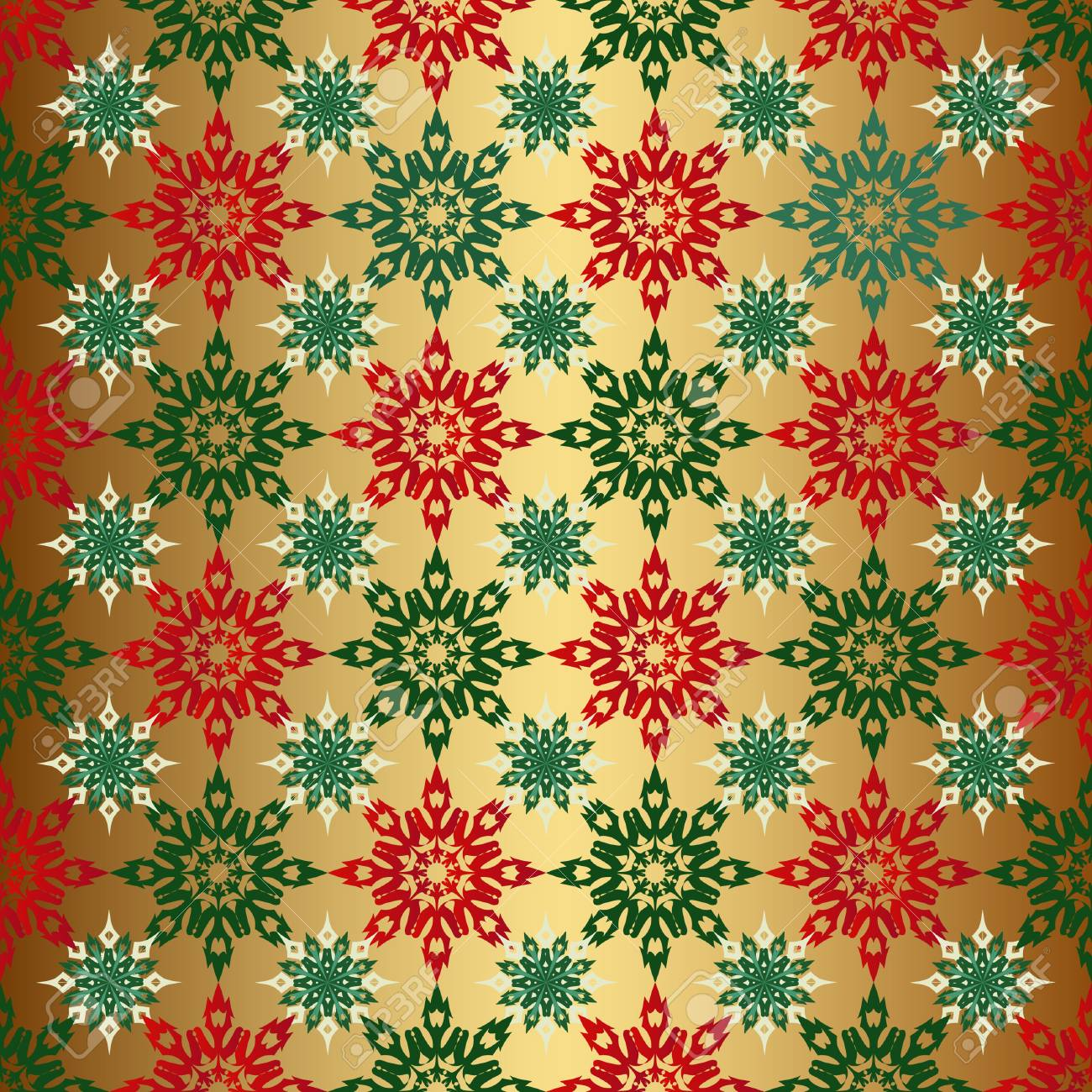 Free Download Seamless Christmas Background Gold Color With Red