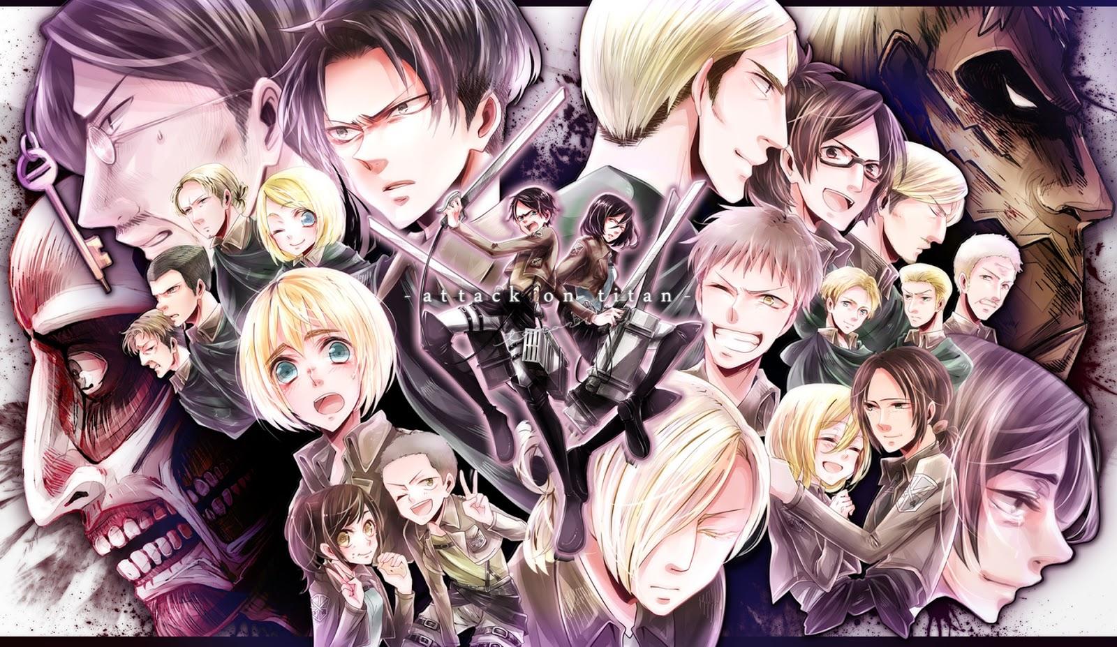 Attack on Titan Shingeki no Kyojin Character Group Anime HD Wallapper 1600x927