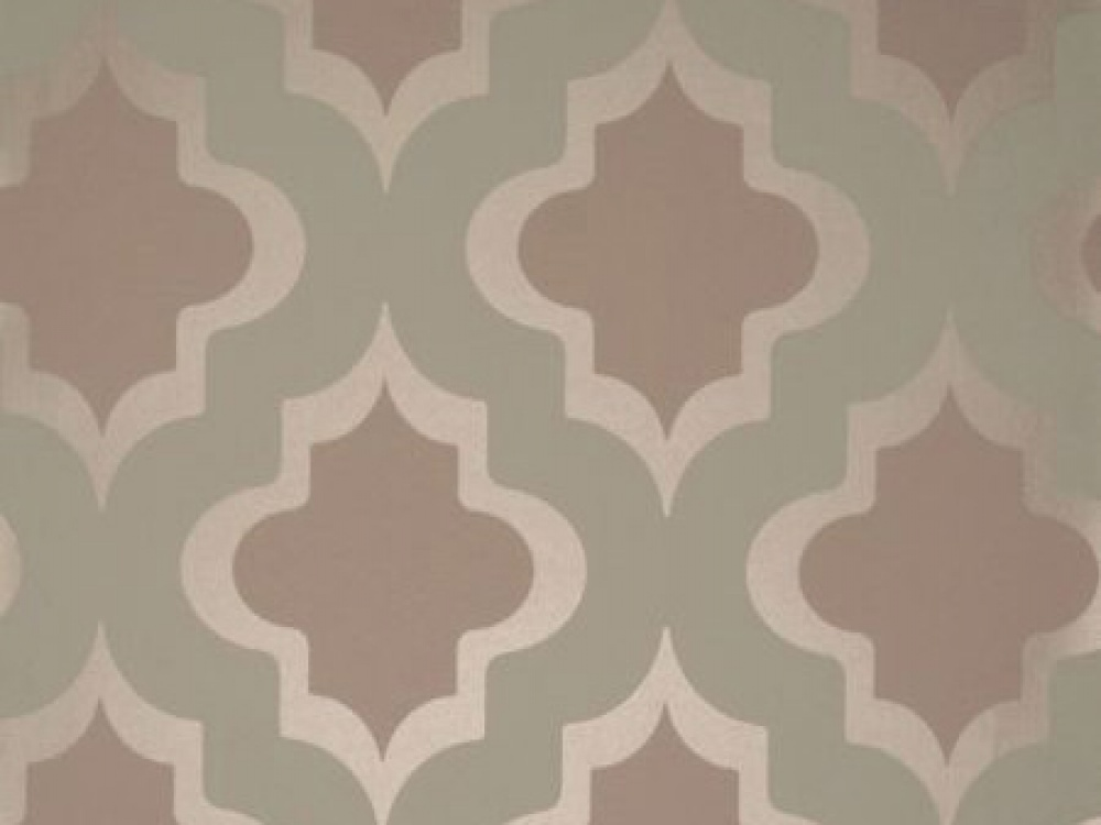 Delivery on Kasbah Mineral Green Brown Geometric Wallpaper 1000x750