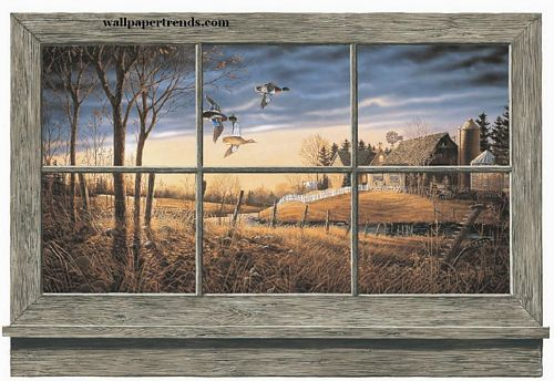 Lodge and Cabin Accessories lodge and cabin wall window wallpaper 500x344