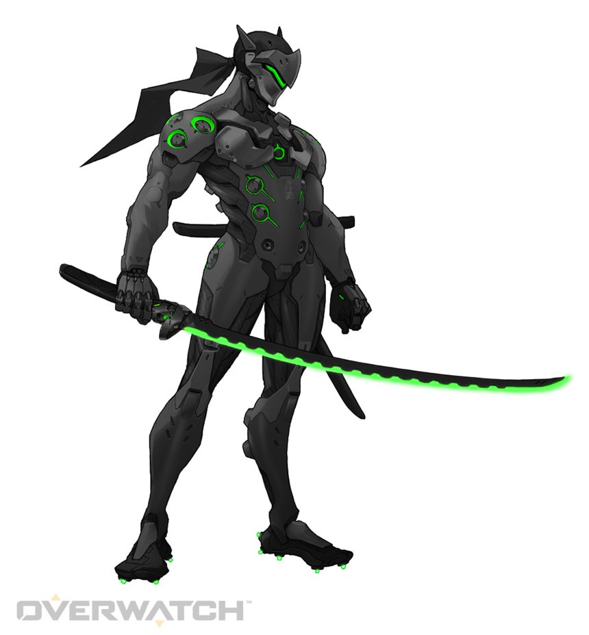 Black Genji Green   Overwatch by PlanK 69 860x928