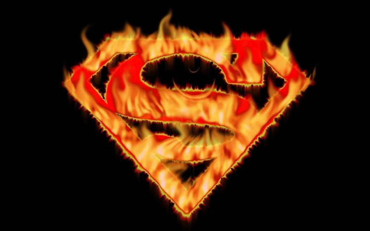 Superman Superman Flames 1280x800