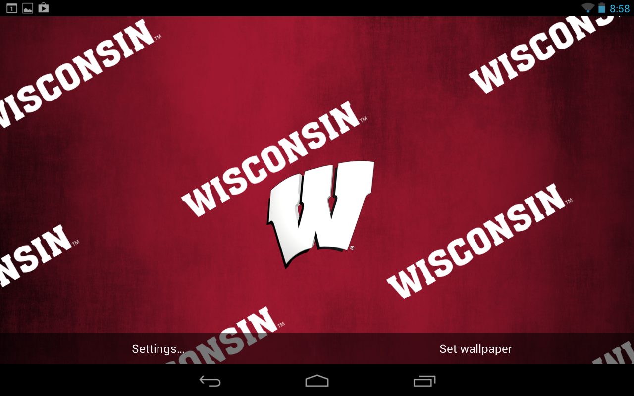 wisconsin badgers live wallpaper with animated 3d logo background 1280x800