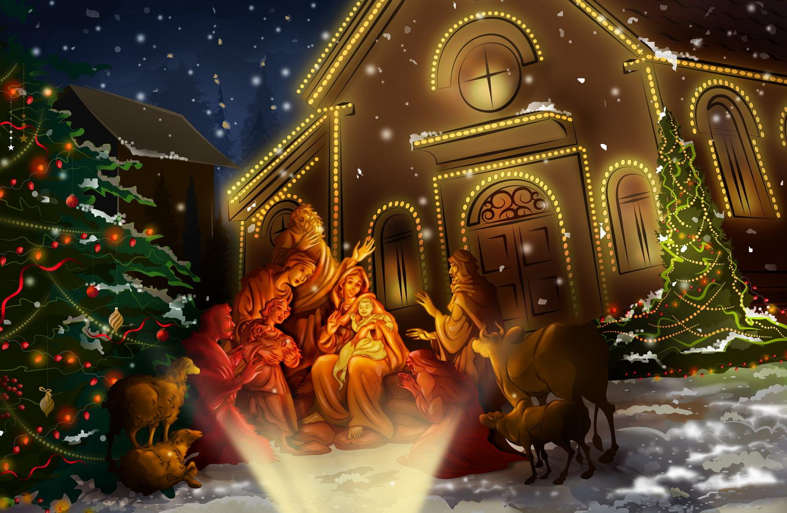 Nativity scene Wallpaper   Christian Wallpapers and Backgrounds 1600x1044