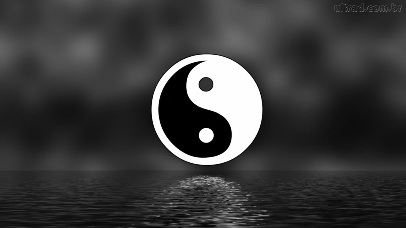 Best Wallpapers Abstract Asian dragon and ying yang 1366x768