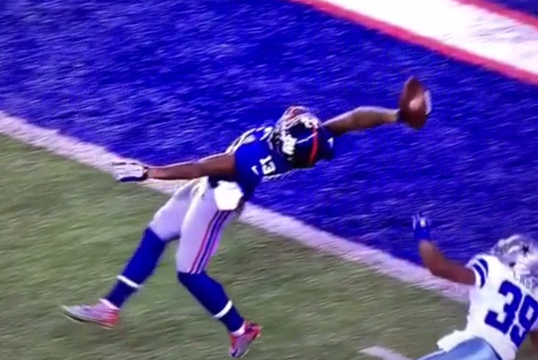 Odell Beckham Jr With One of Best Catches of All Time Video 1052x704