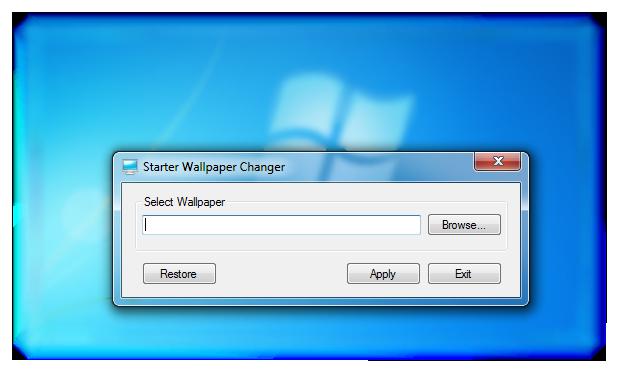 Windows 7 starter wallpaper change