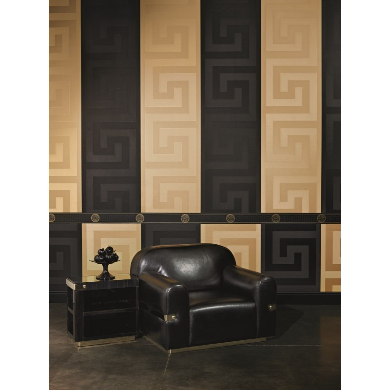 Versace Home Greek Key Gold Luxury 70CM Wallpaper by AS Creation 93523 800x800