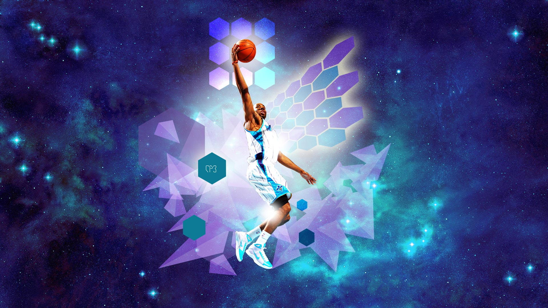 CP3 Layup In Space Widescreen Wallpaper Basketball Wallpapers at 1920x1080