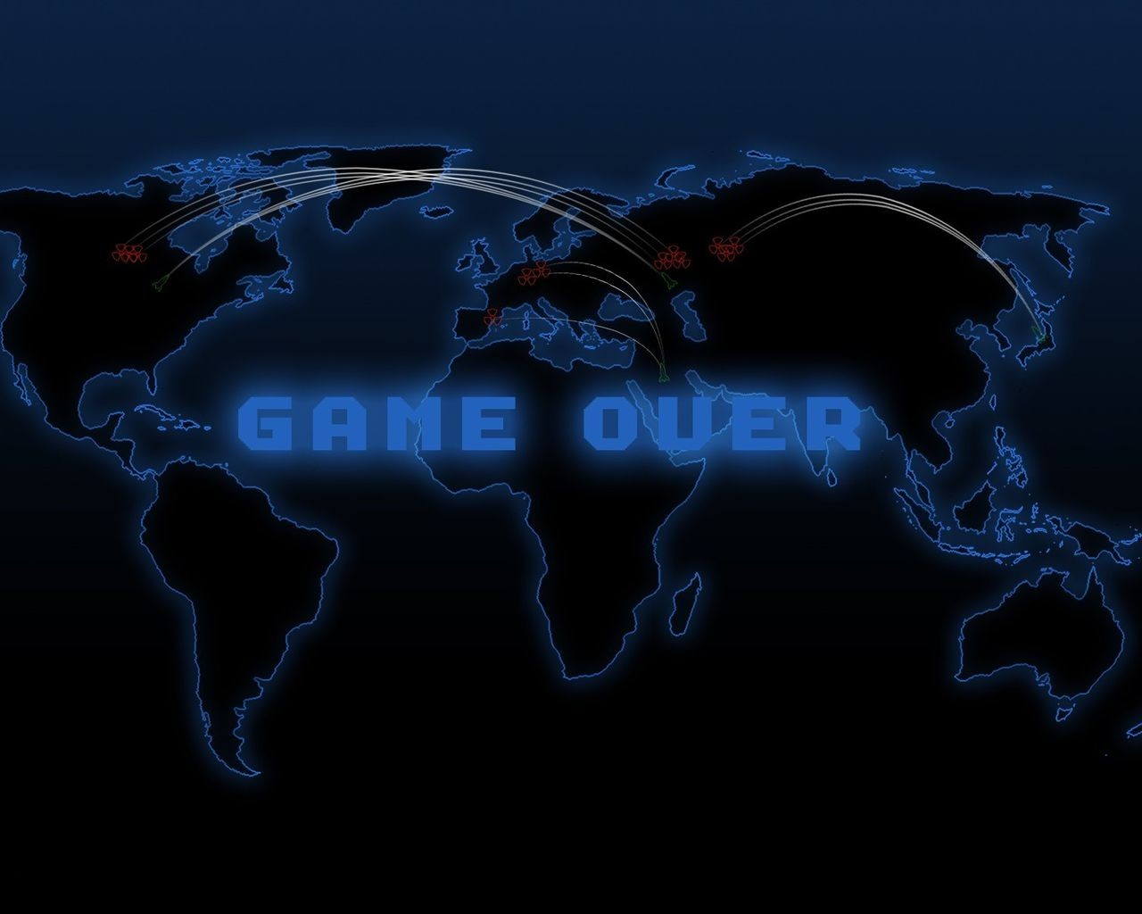nuclear defcon game maps over HD Wallpaper   Games 1097309 1280x1024