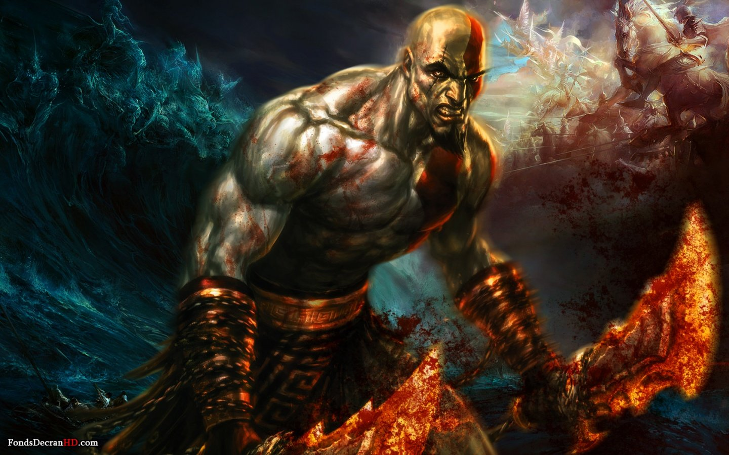 God Of War 3 HD wallpaper 1440x900