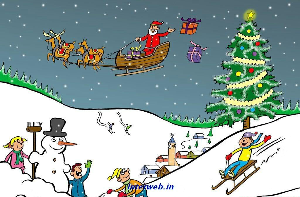 Wallpaper Holiday Wallpapers Christmas Animated 1024x674