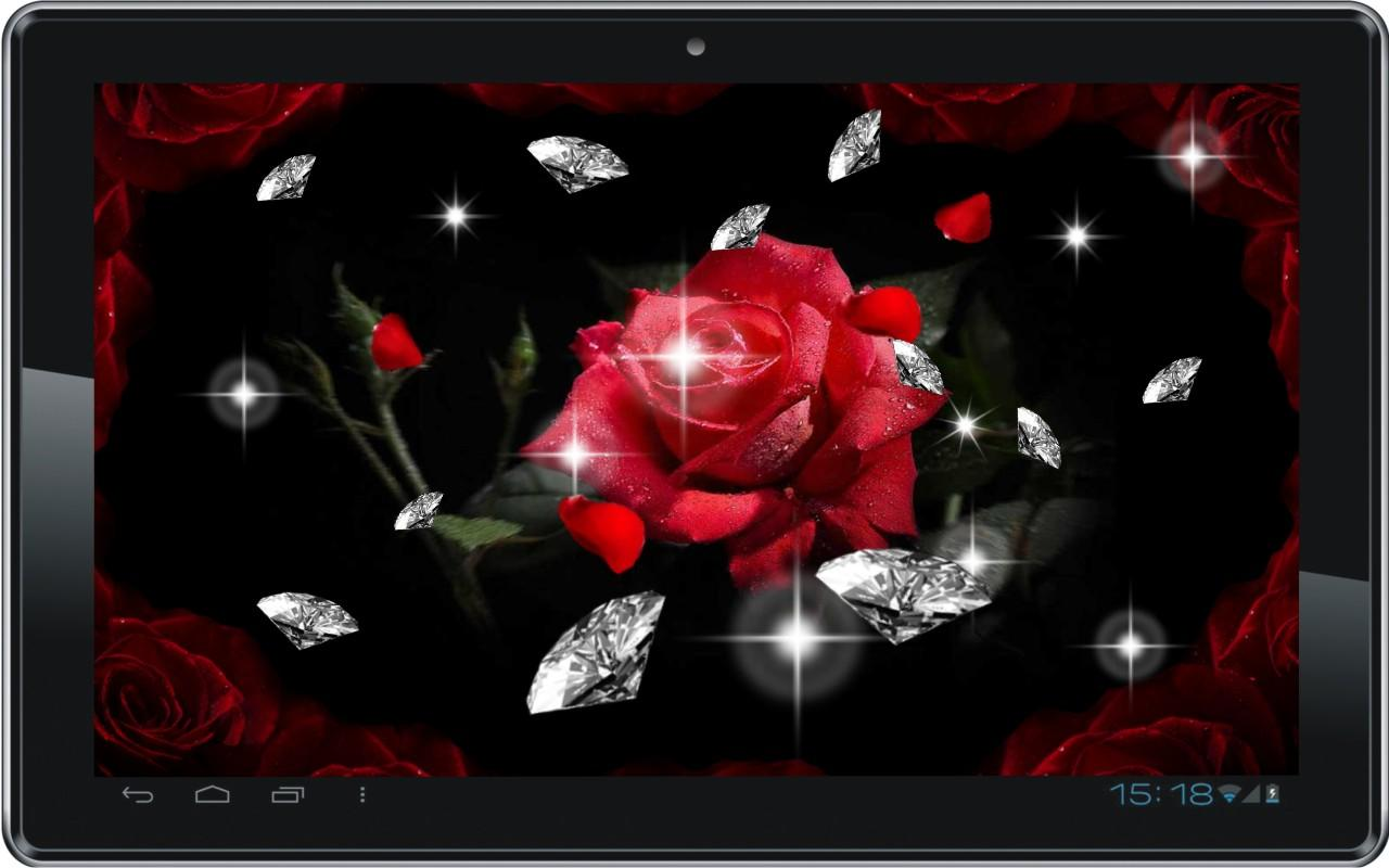 Diamond n Roses live wallpaper 11 screenshot 4 1280x800