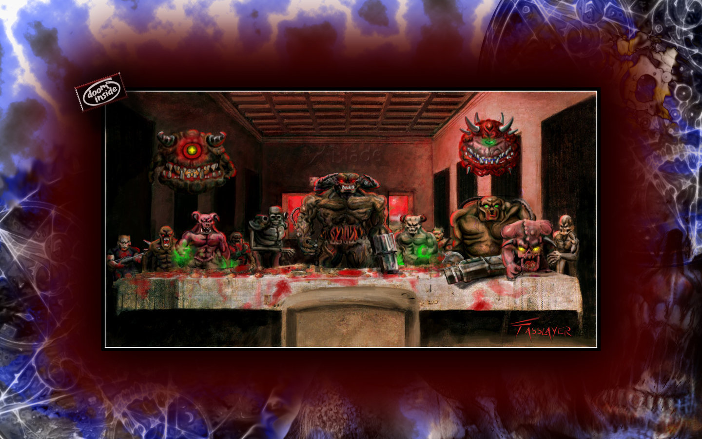 Doom Last Supper Wallpaper 2 by mosesmcdoodle 1440x900