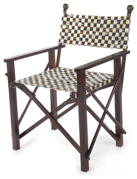 Courtly Check Directors Chair MacKenzie Childs   Eclectic   Outdoor 442x575