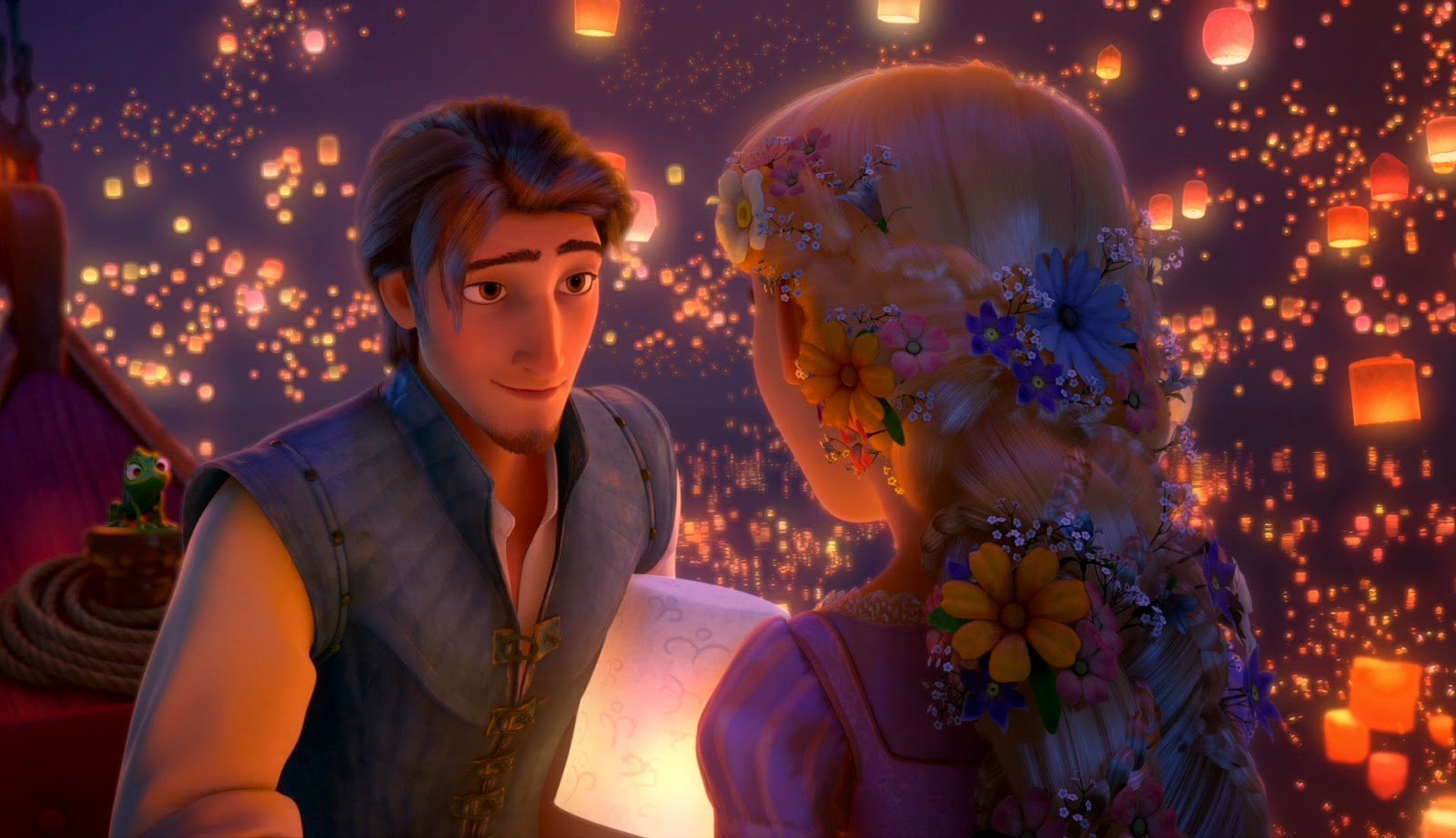 Rapunzel and Flynn love Wallpaper HD Wallpapers Disney Movies 1600x921