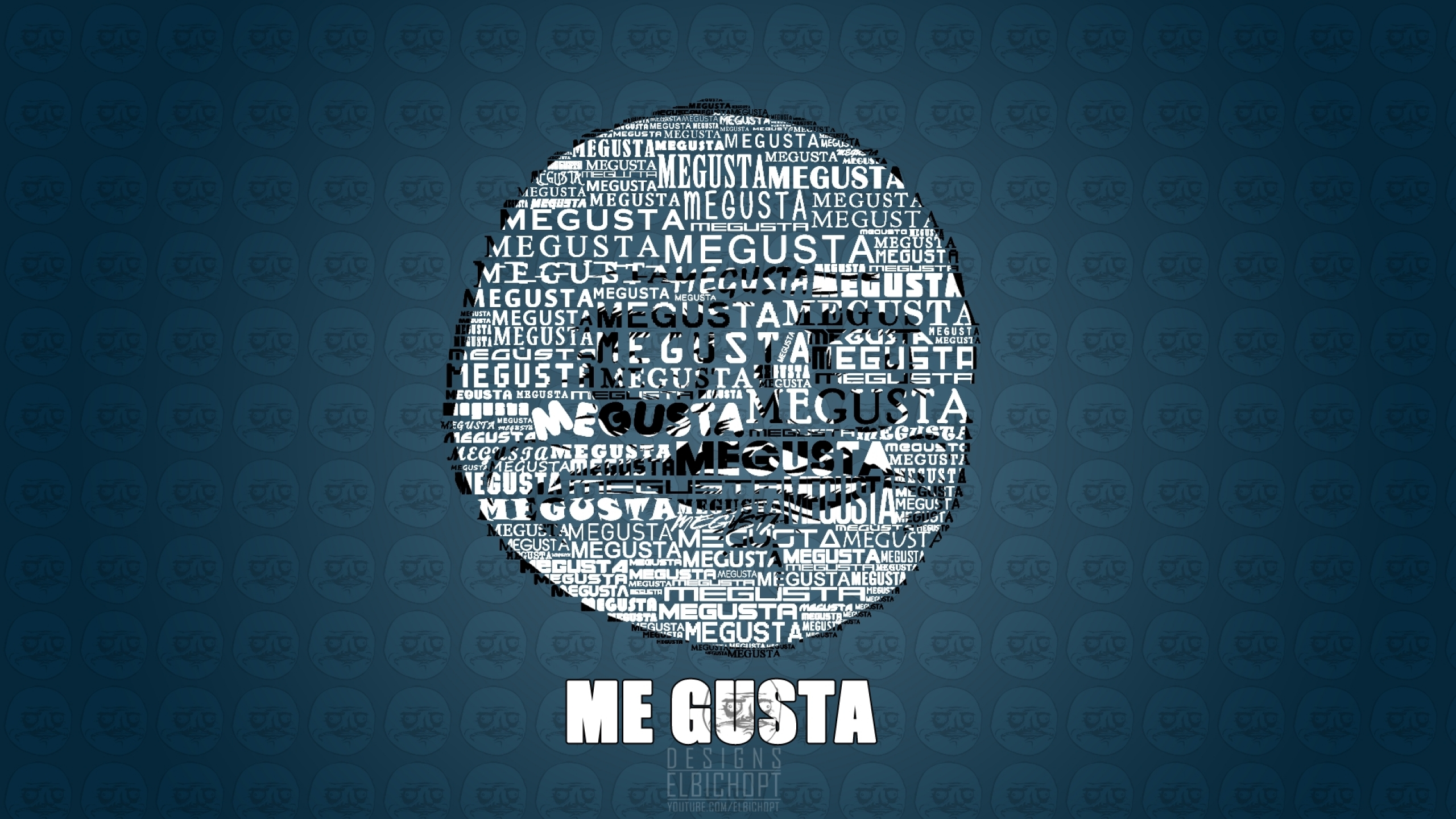 meme me gusta blue background 1920x1080 wallpaper Wallpaper 2560x1440