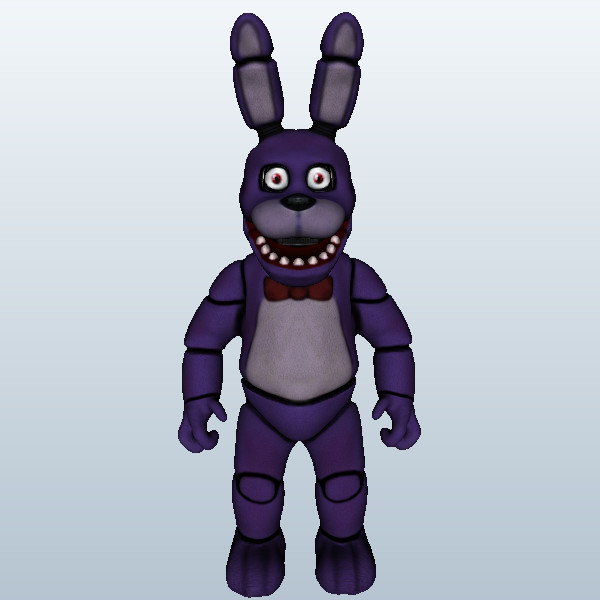 Bonnie the Bunny 3D Model Made with 123D 123D Sculpt 600x600
