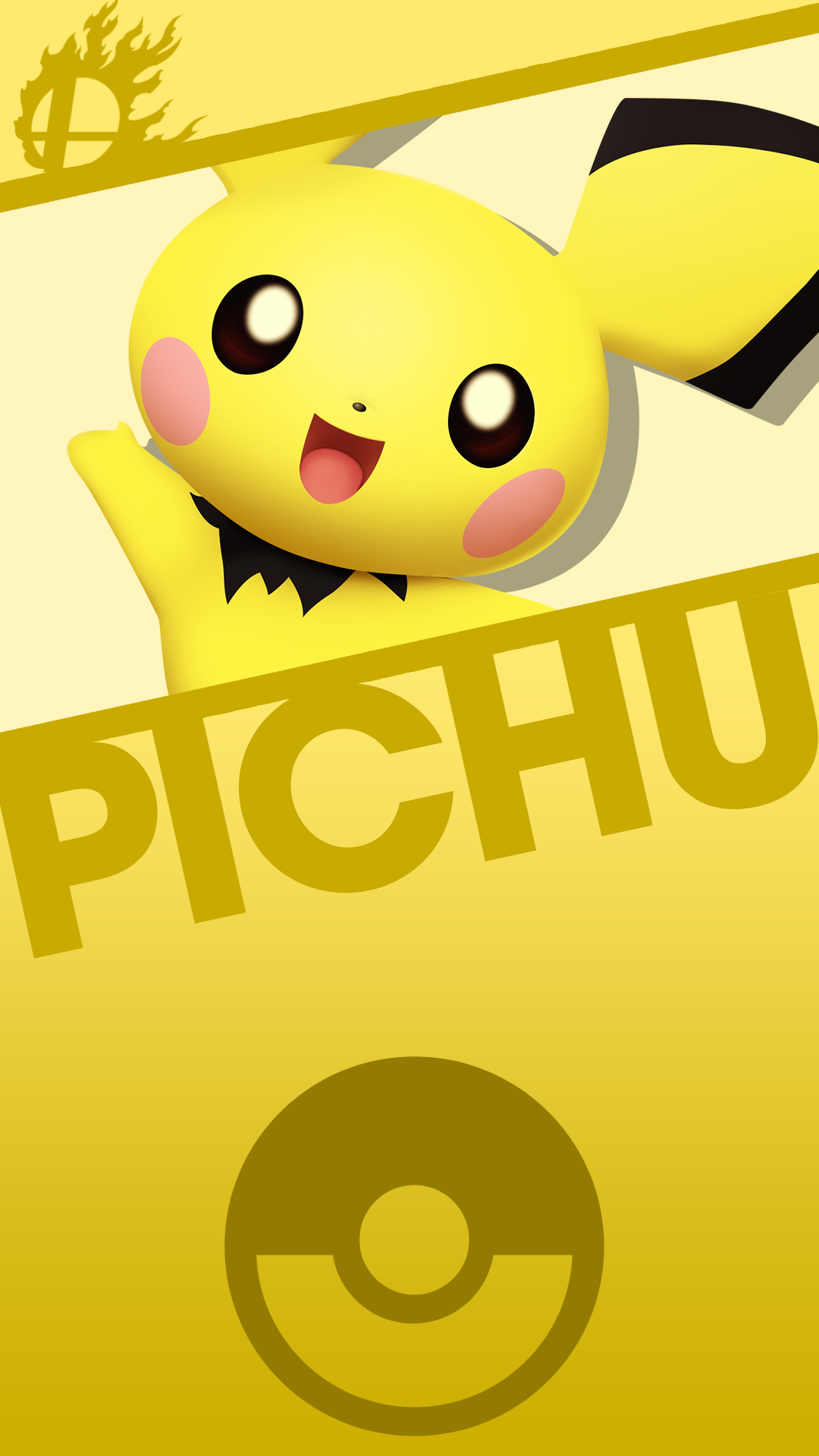 Pichu Smash Phone Wallpaper by MrThatKidAlex24 1080x1920