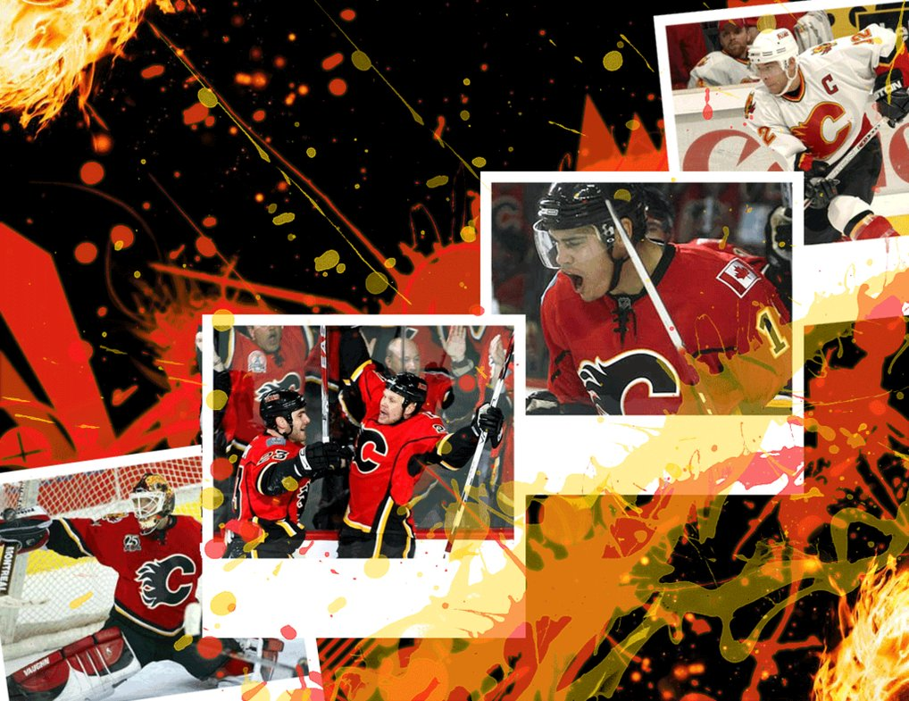 Calgary Flames Wallpaper   PS by MRomanos on deviantART 1018x785