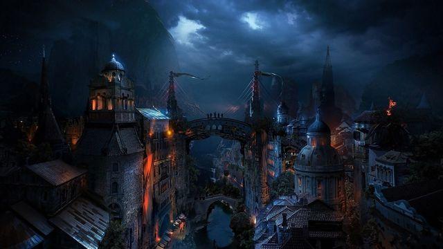 Image   Dark medieval city fantasy hd wallpaper 1920x1080 2069jpg 640x360