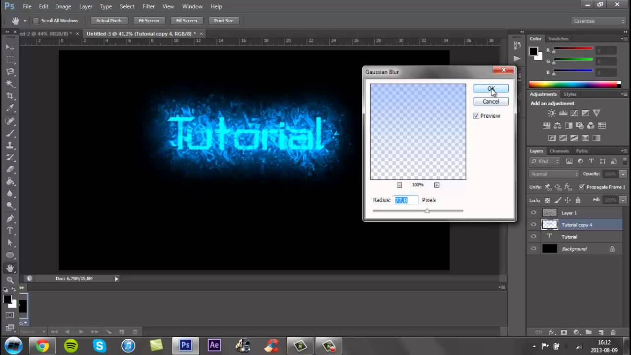 How to Make a Cool YouTube Background In Photoshop CS6   2013 1280x720