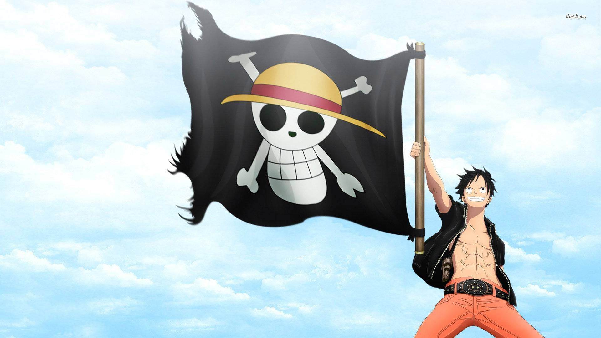 Free Download Luffy And The Jolly Roger One Piece Wallpaper