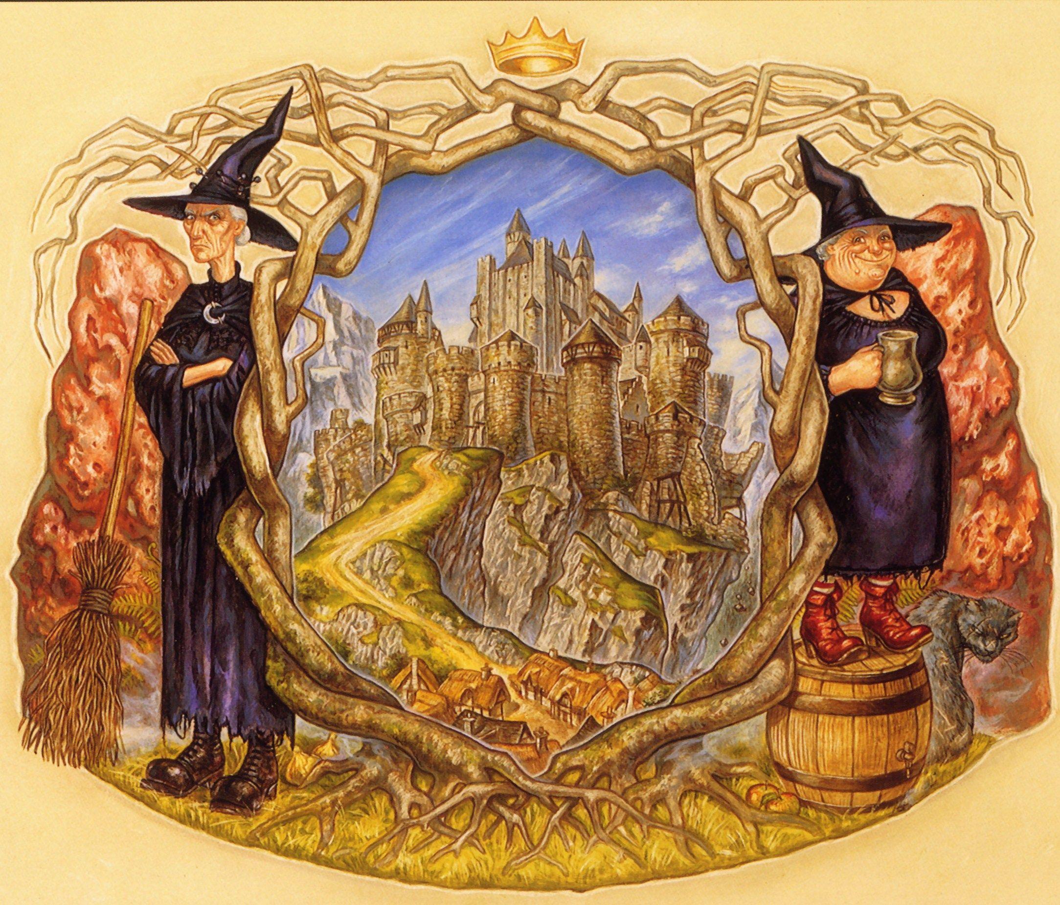 Paul Kidby Wyrd Sisters Terry Pratchett Discworld   Discworld 2167x1850