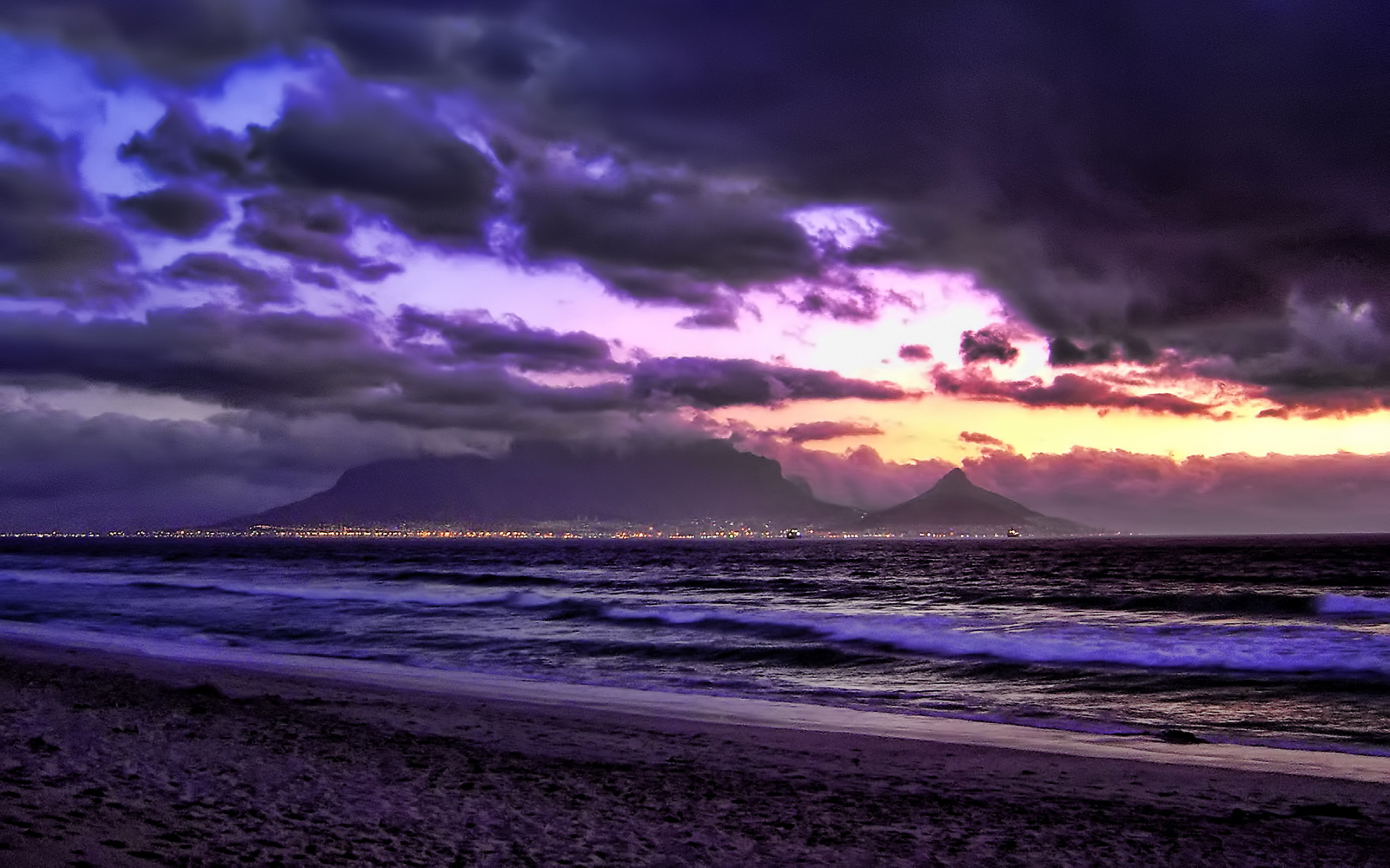 Cape Town Purple South Africa Wallpaper Nature Landscape Wallpaper 2560x1600