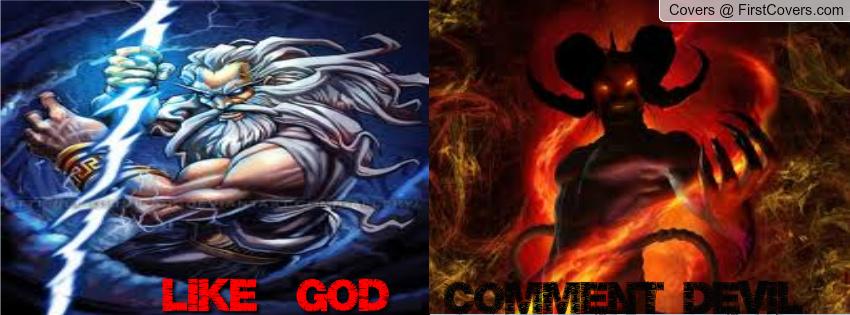 God Vs Devil Facebook Profile Cover #647101
