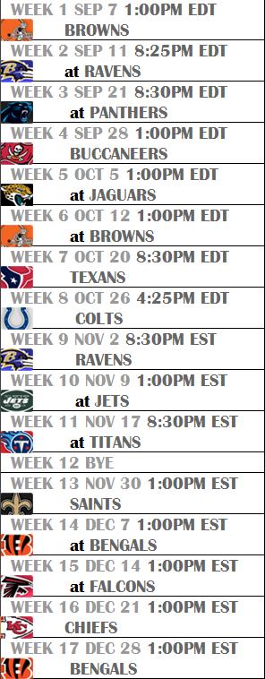 Steelers 2014 Season Schedule   Steel City Blitz 296x758
