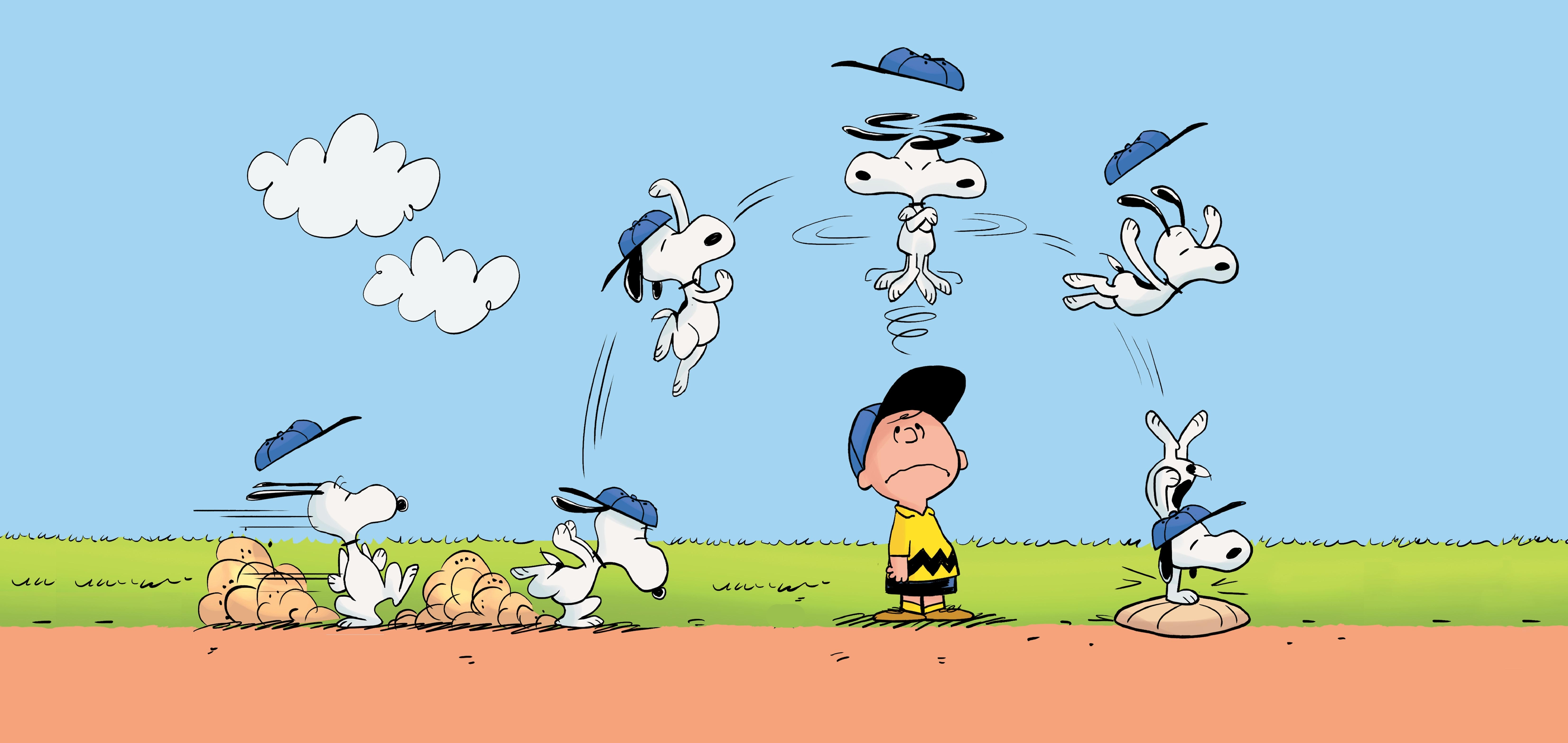 Cartoon   The Peanuts Charlie Brown Snoopy Wallpaper 6609x3131