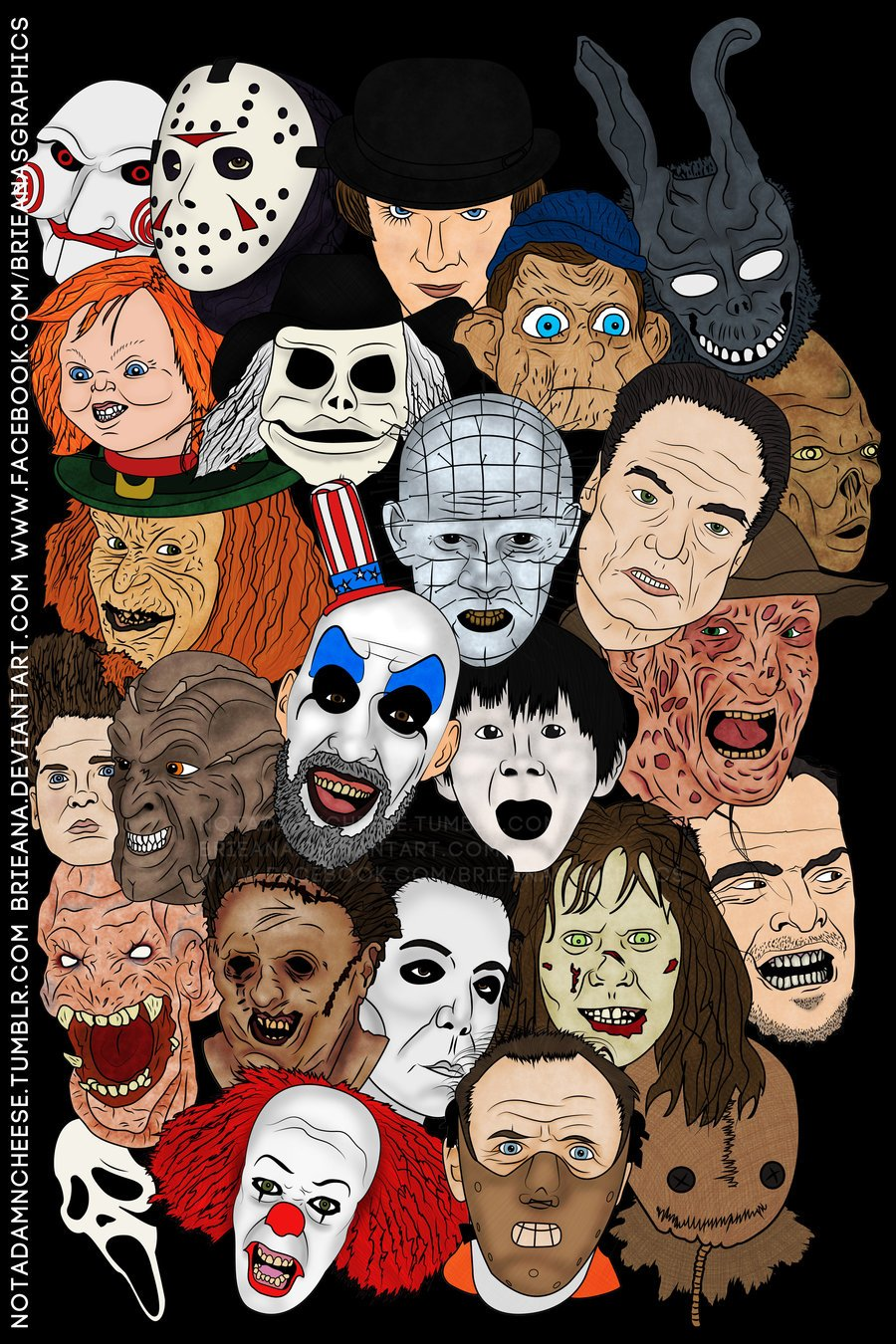 Horror Movie Poster by Brieana 900x1350