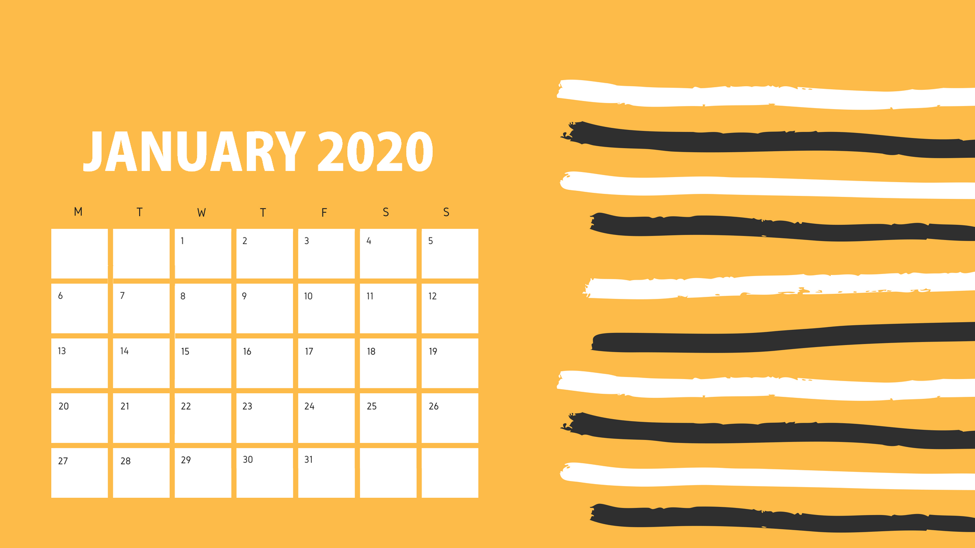January 2020 Calendar Wallpapers   Top January 2020 Calendar 1920x1080