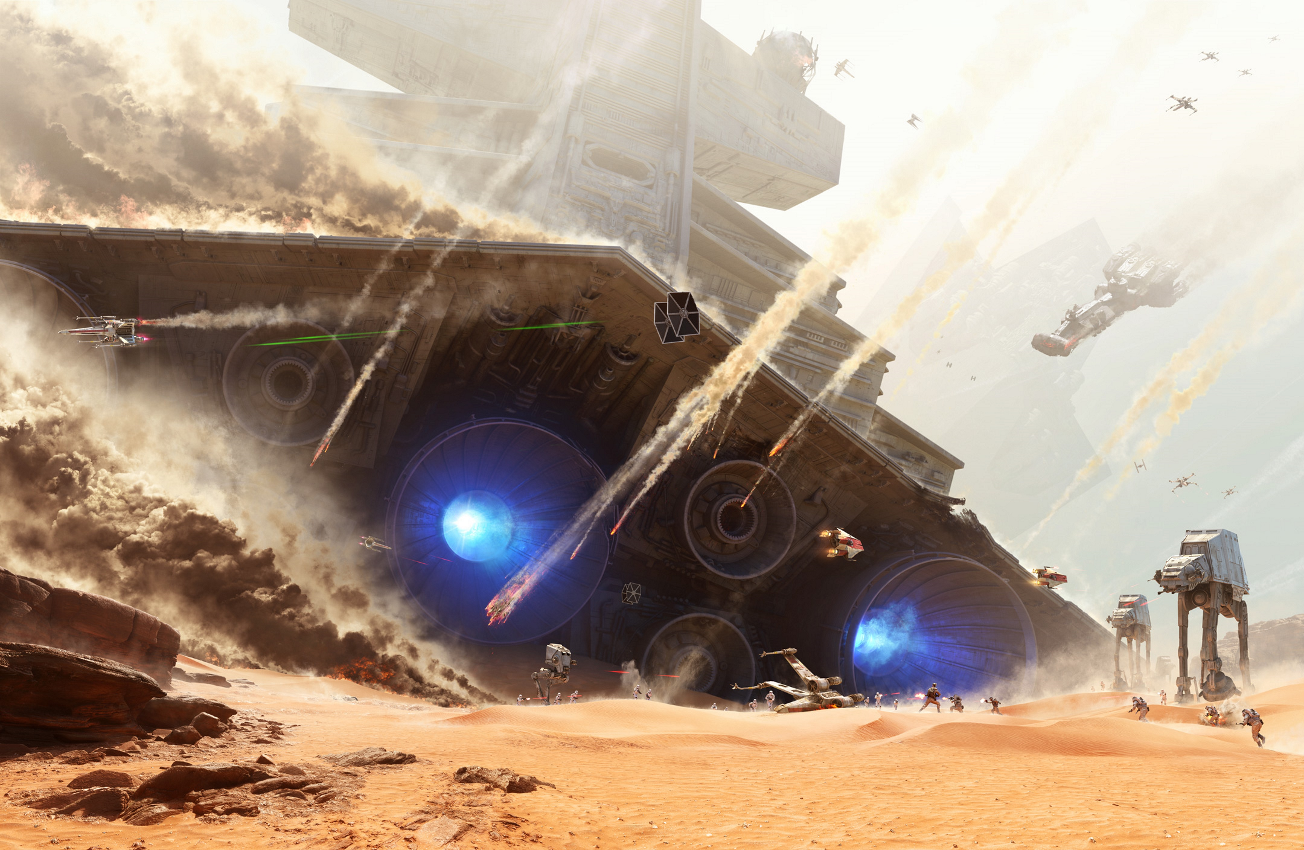 Star Wars Battlefront   Battle of Jakku [Hi Res Textless Wallpaper 4320x2816