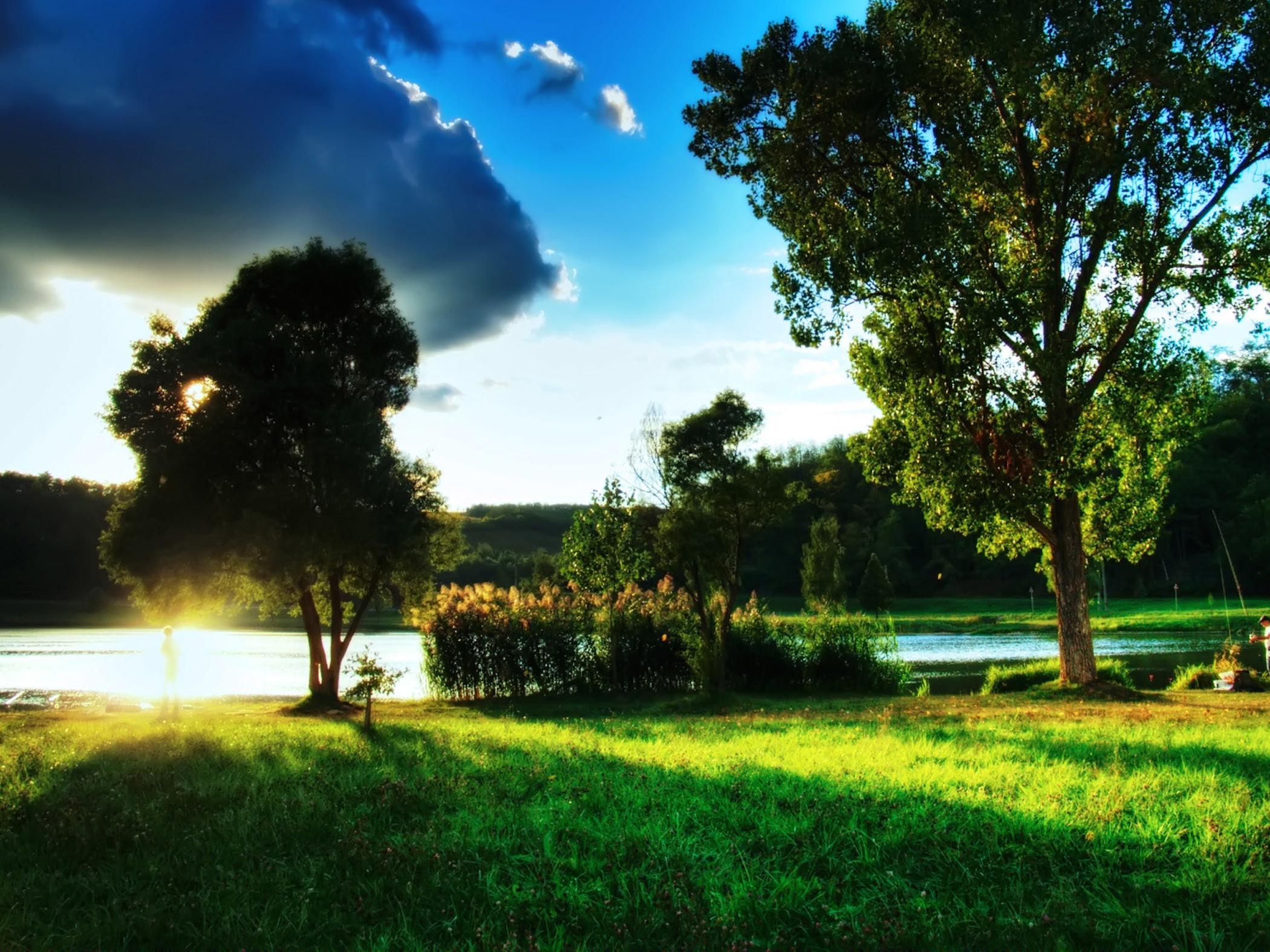Beautiful Summer Day Landscape Wallpaper   HD 2100x1575