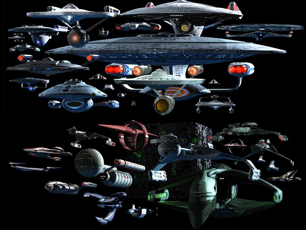 Star Trek All Ships Wallpaper Collection 1024x768