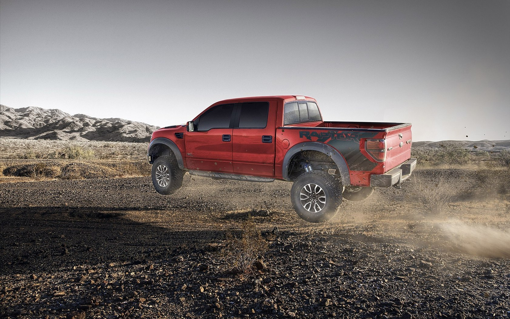 Ford Red Raptor Wallpaper HD Wallpaper WallpaperLepi 1680x1050