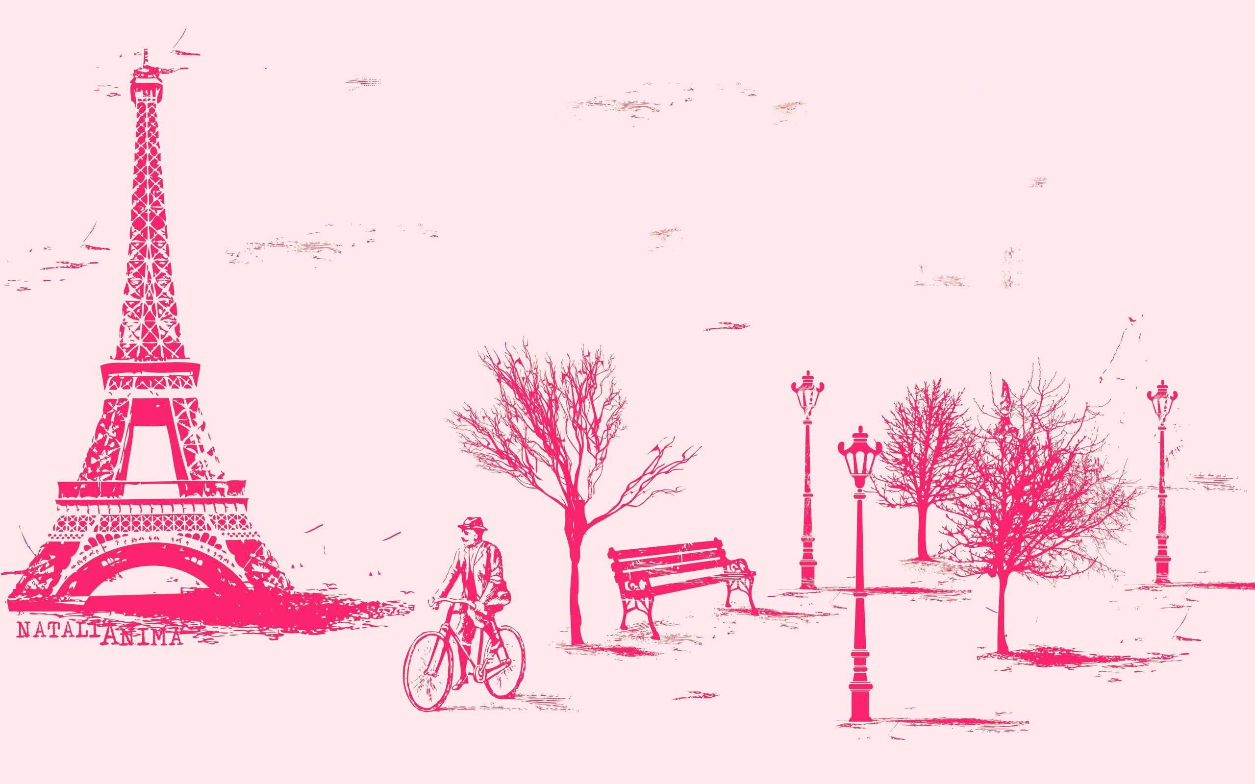 Pink Paris Wallpaper - WallpaperSafari