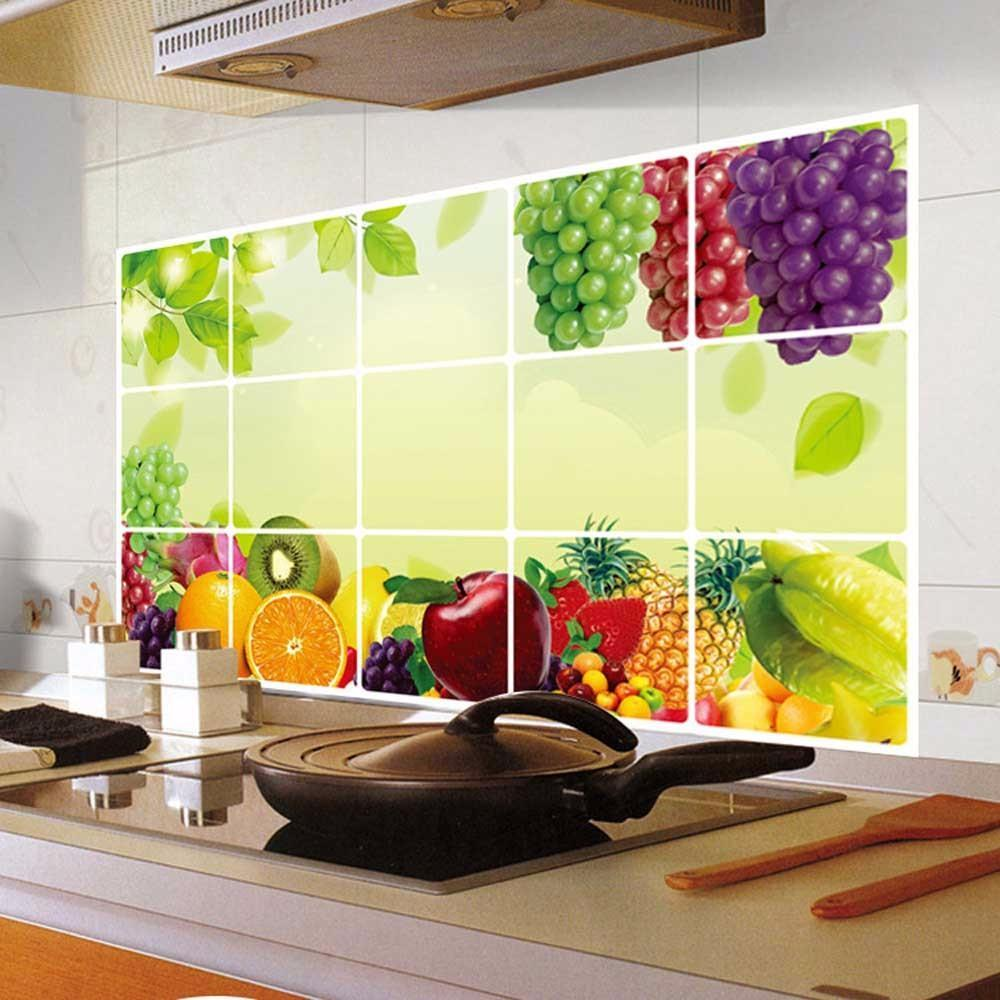 Approx75cm45cm Wall Stickers Kitchen Oilproof Removable Aluminum 1000x1000