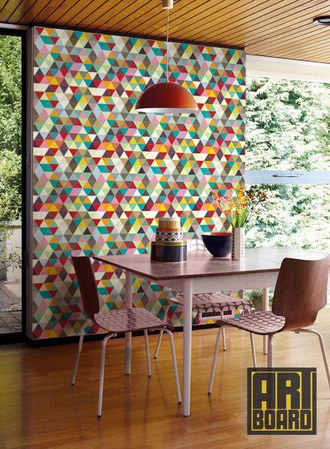 Colorful mosaic Pattern   self adhesive DIY wallpaper home decor 470x639