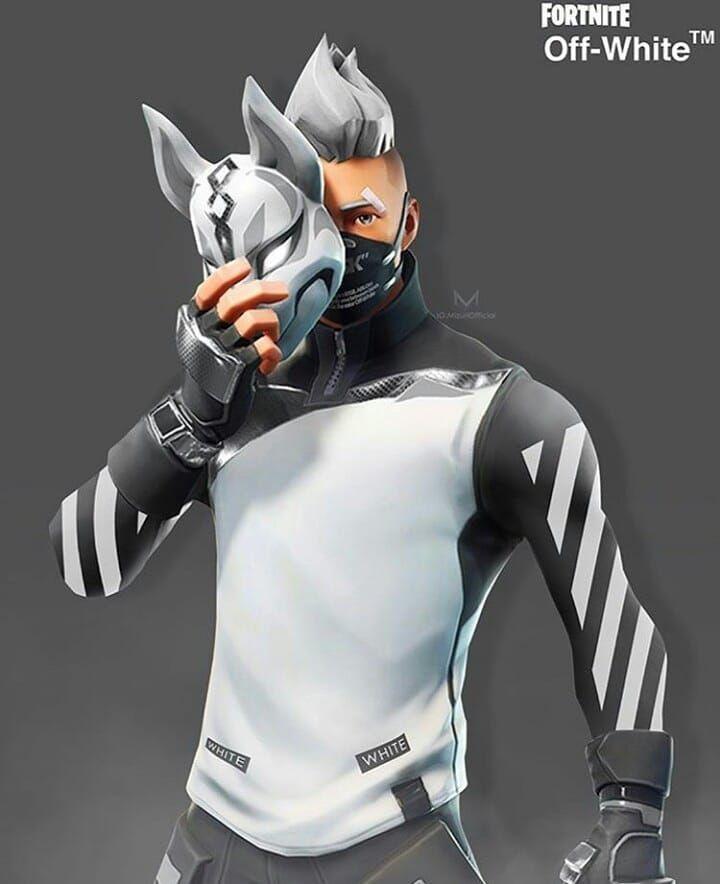 drift in white clothing Fortnite in 2019 Video game art 720x884