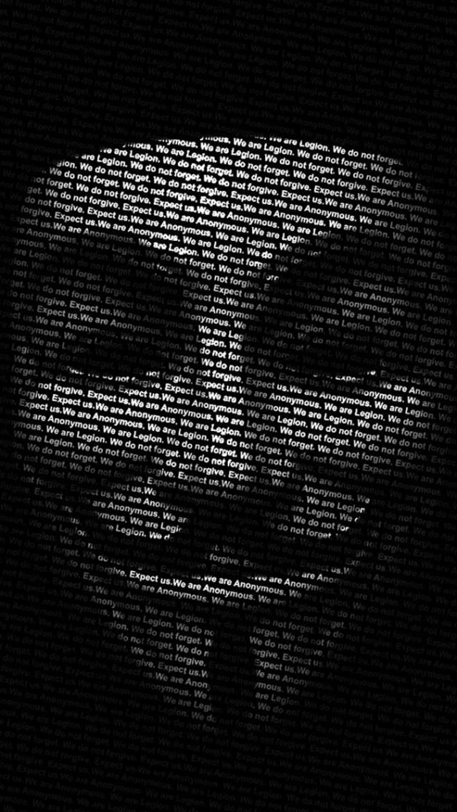 Free Download Anonymous Mask Black Iphone 5s Wallpaper