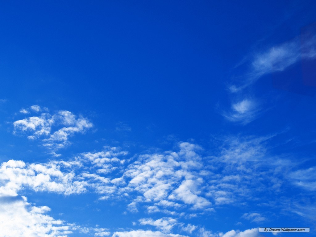 Wallpaper   Nature wallpaper   Blue Sky And White Cloud 8 1024x768