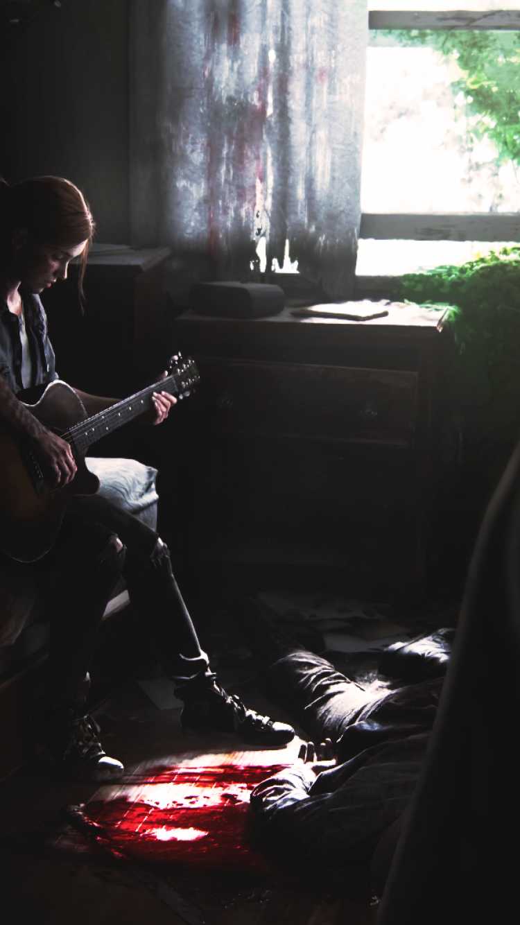 Download 750x1334 The Last Of Us 2 Ellie Playing Guitar 750x1334