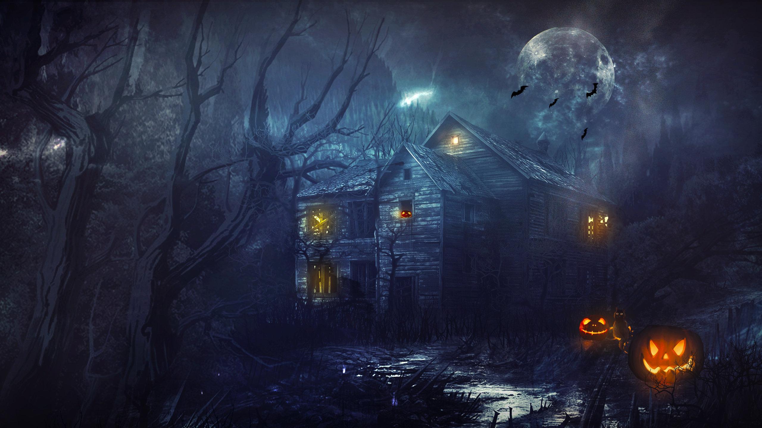Halloween wallpapers 2560x1440 desktop backgrounds 2560x1440