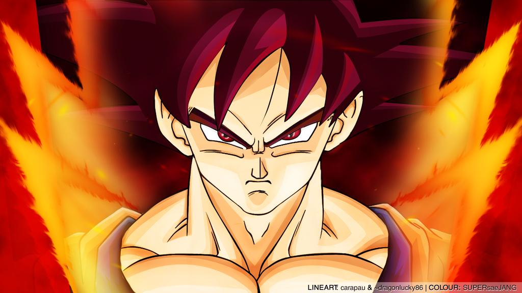 God Goku Wallpaper 1024x576