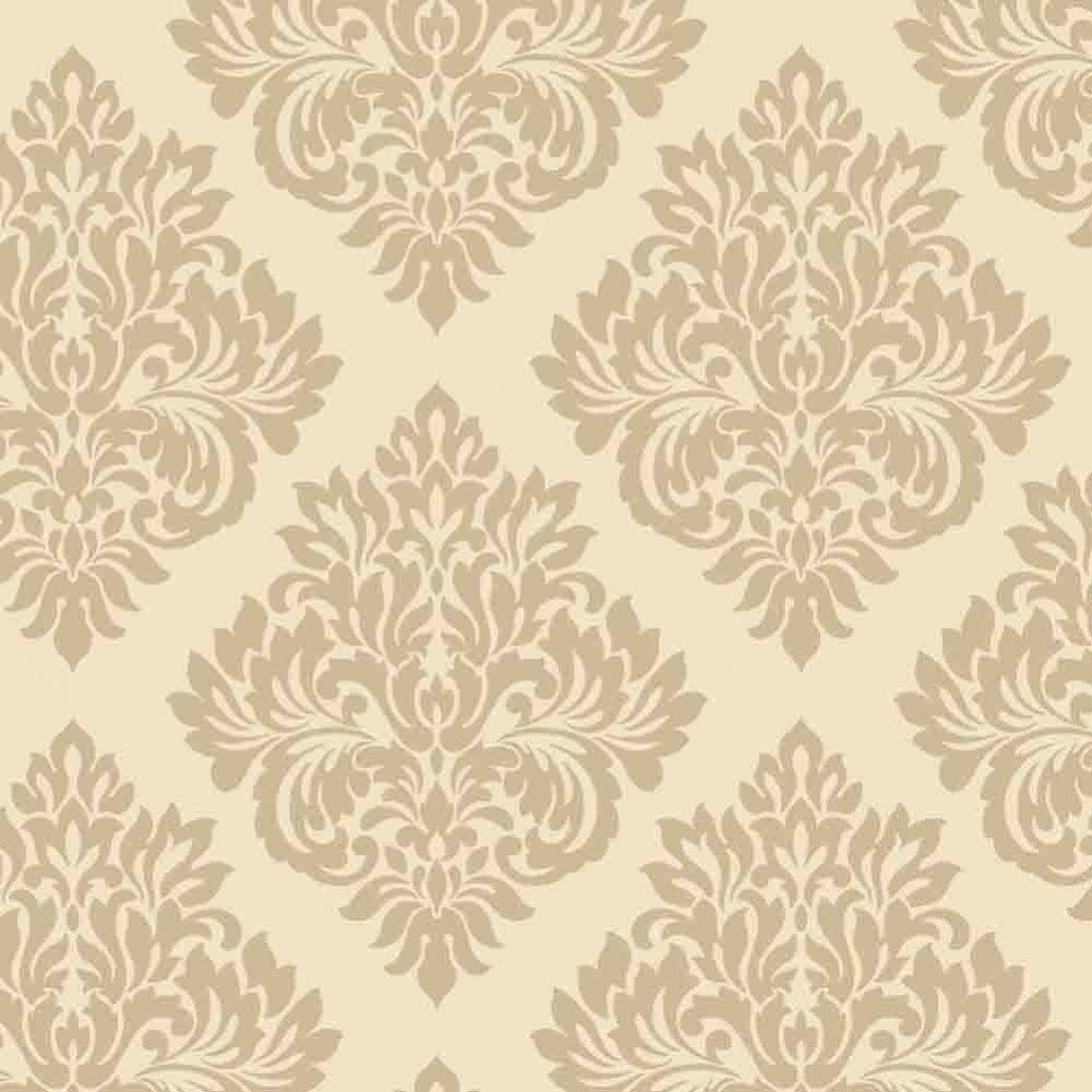Wallpaper Decorline Decorline Sparkle Damask Wallpaper Cream 1000x1000