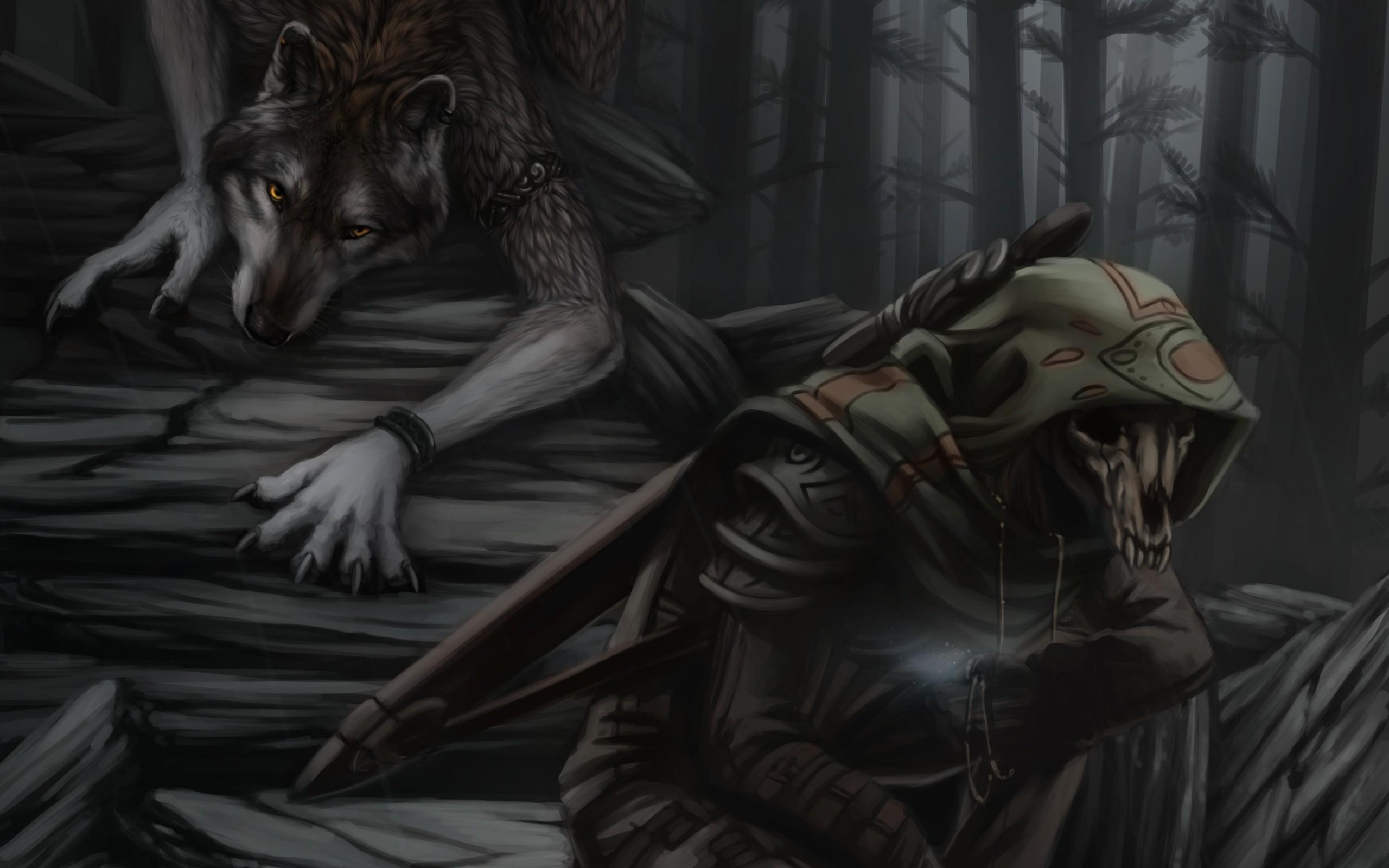 Werewolf Reaper fantasy h wallpaper 2560x1600 168976 WallpaperUP 2560x1600
